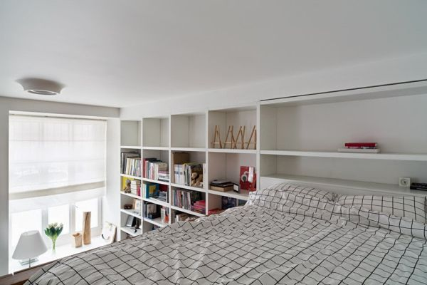 how to decorate living room wall shelves white grey small apartment with hidden rooms and high ceilings