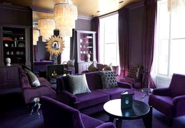 Dipped In Plum: Monochromatic Rooms