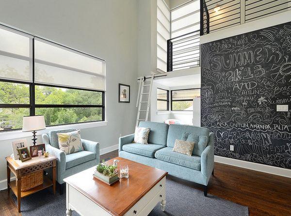Chalkboard In Living Room