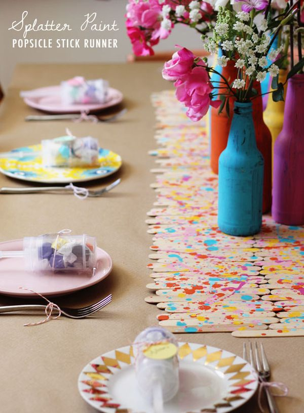 Easy Diy Kids Art Themed Birthday Party Craft Display Table