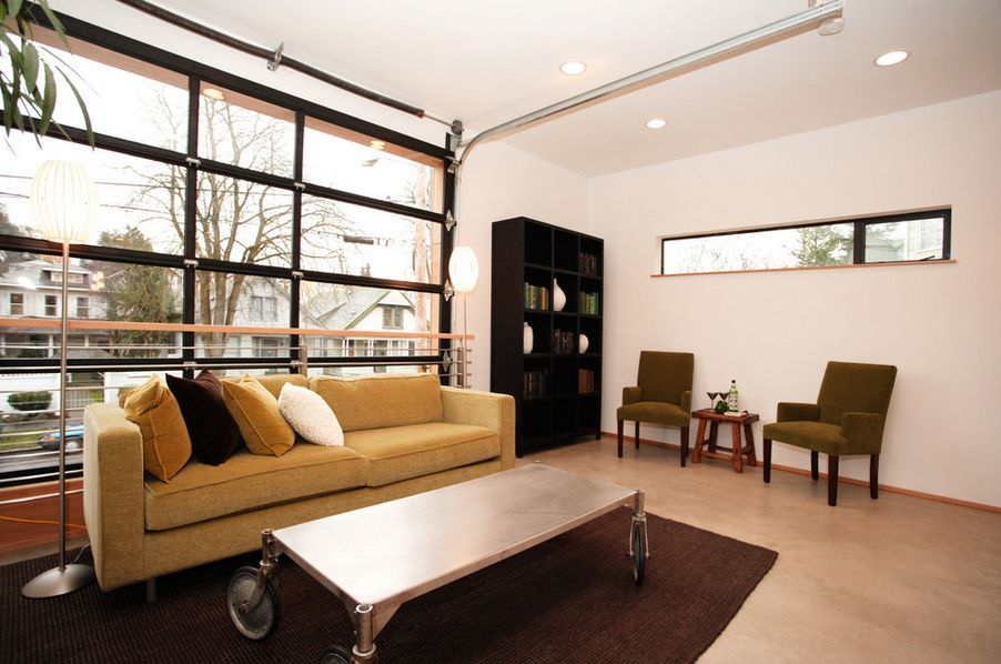 garage door living room side bench for 10 conversion ideas to improve your home