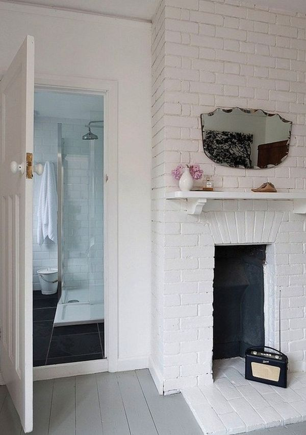 White Painted Fireplace Brick Painting Brick Walls White – An Increasingly Popular Trend