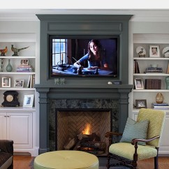 Decorating A Living Room With Fireplace And Tv Ideas For Small Rooms Corner 20 Ways To Incorporate Wall Mounted Tvs Shelves Into Your Decor