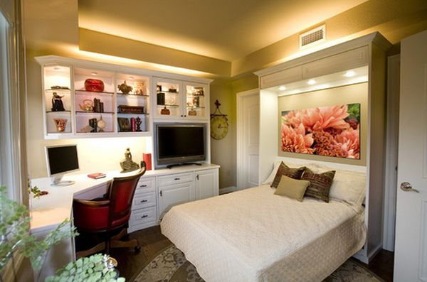 home office guest bedroom design ideas Maximize Small Spaces: Murphy Bed Design Ideas