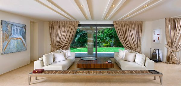 low ceiling living room design ideas high back wing chairs for 15 tips on how to make your look higher view in gallery