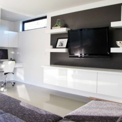 Living Room Mounted Tv Ideas How To Divide 20 Ways Incorporate Wall Tvs And Shelves Into Your Decor