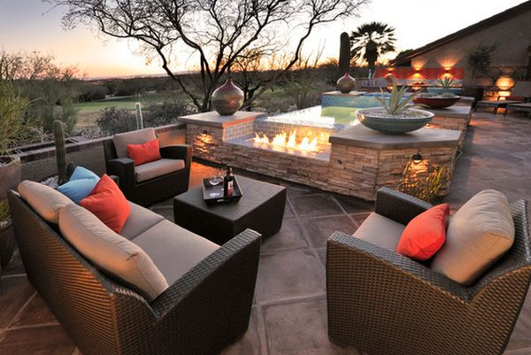 comfy chairs for small spaces baby tub chair eye-catching, modern outdoor fireplaces turn the patio into a dreamy retreat
