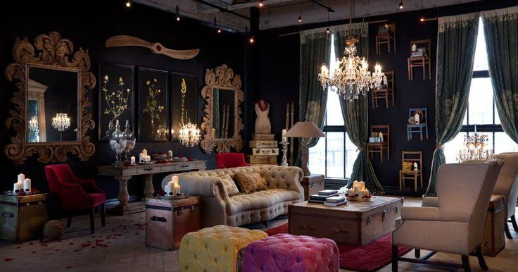 Living Room Steampunk Interior Design