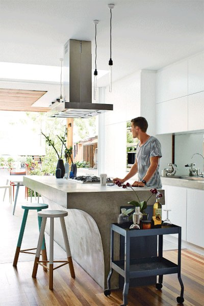 concrete kitchen island Go Beyond The Common Aesthetics With Concrete Kitchen Islands