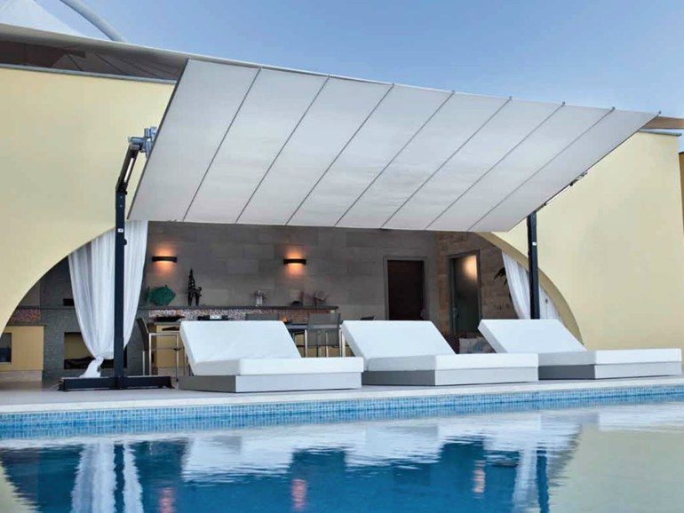 outdoor aluminium table and chairs folding wrought iron cool umbrellas that shade you from the hot summer sun in style