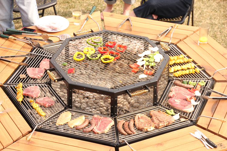 DIY communal outdoor grill