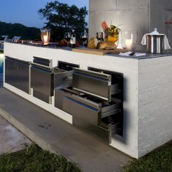 Modern Outdoor Kitchen Orange Canisters Step Out To Enjoy The Beauty Kitchens