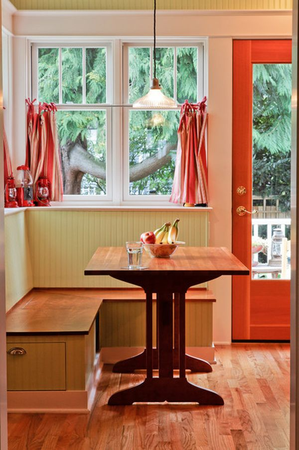 kitchen bench seating with storage undermount sinks how to dress up a breakfast nook enjoy simple pleasures