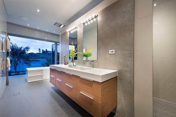 contemporary beach house bathroom Modern Rectangular House Impresses With A Splendid Architecture And Interior Design