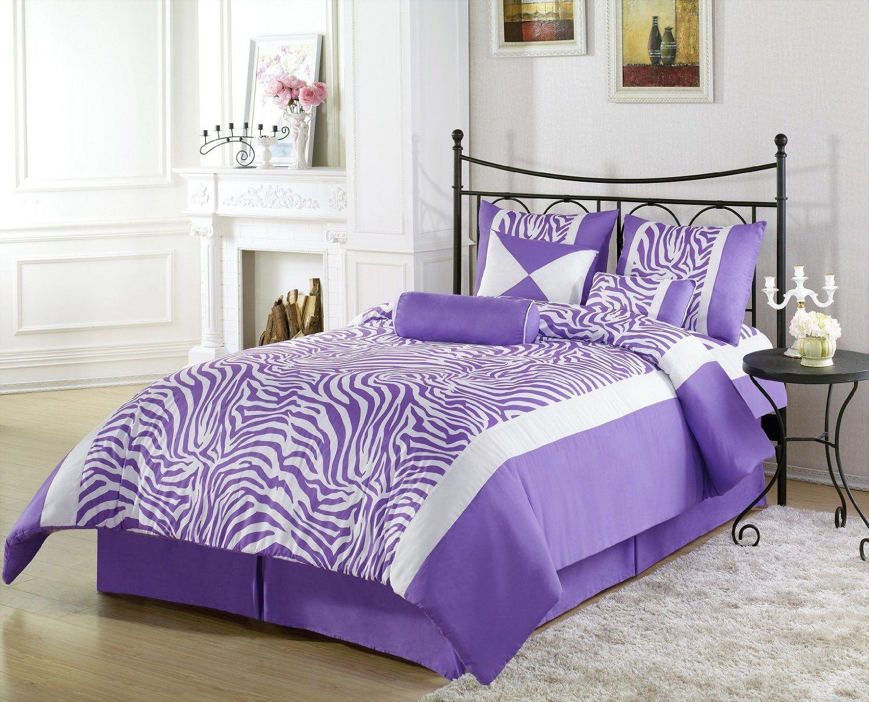 Purple Zebra Print Girls Bedroom Ideas