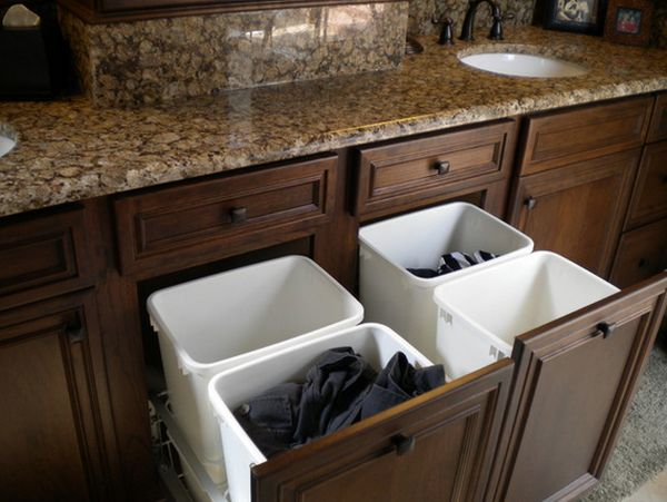 adding shelves to kitchen cabinets pull out drawers sort your laundry in style with these attractive ...
