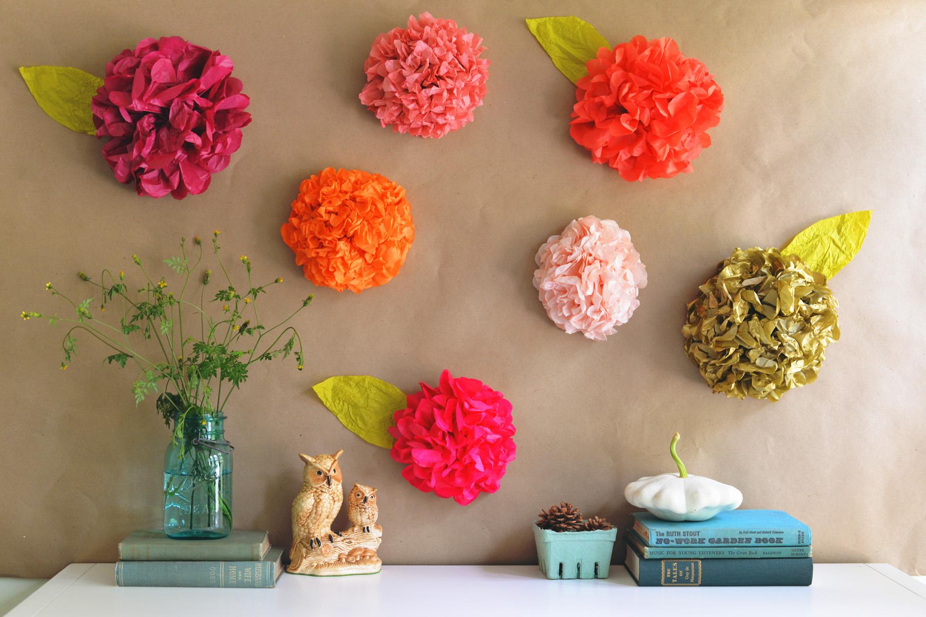Diy Tissue Paper Flower Backdrop