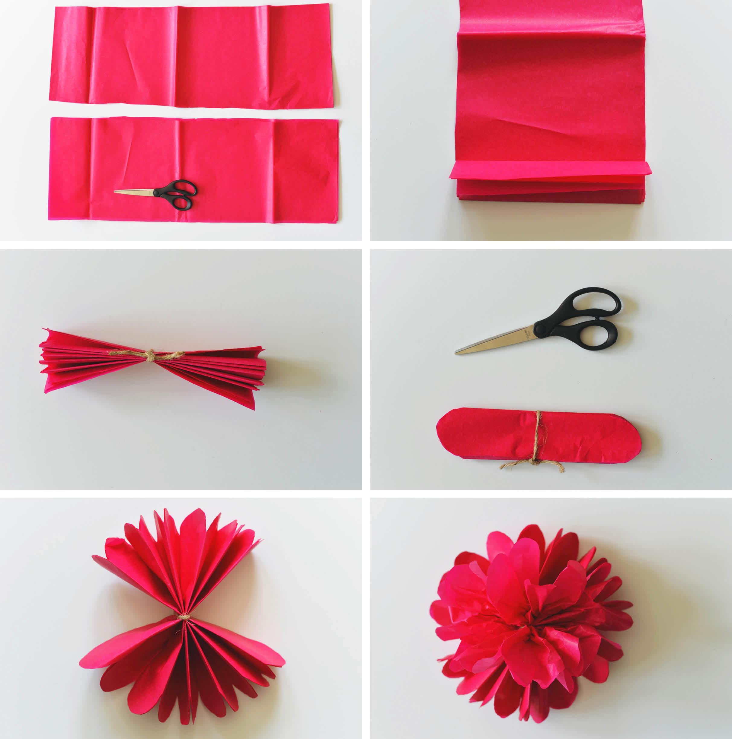 tissue paper roses DIY