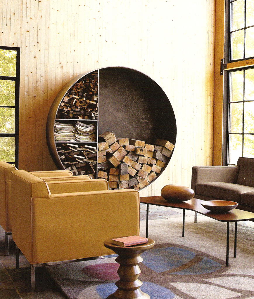 living room firewood holder ideas with tv in corner 25 cool storage designs for modern homes