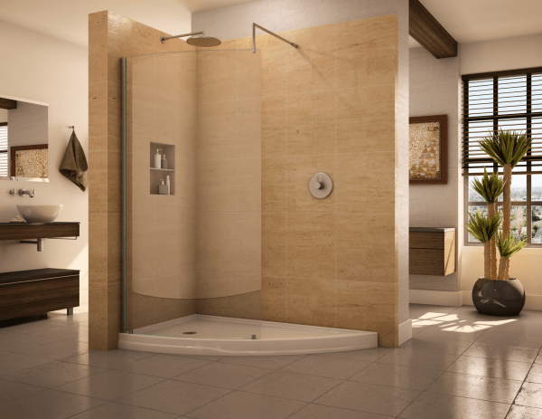 Walk-In Shower Designs without Doors
