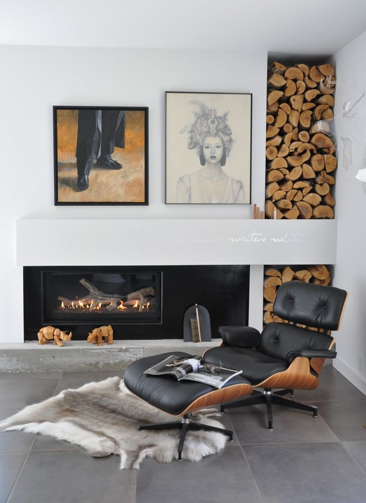 eames lounge chair used transport wheelchair nova 25 cool firewood storage designs for modern homes