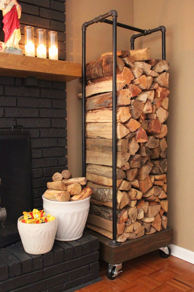25 cool firewood storage designs for