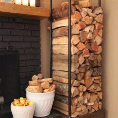 Living Room Firewood Holder Ceiling Designs 2016 25 Cool Storage For Modern Homes