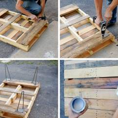 Diy Pallet Sofa Table Instructions Ian Leather Room And Board With Hairpin Legs
