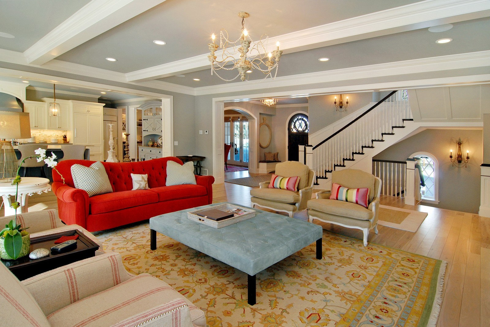 By answering these questions you'll know how to make the right sofa color choice. Couches that POP in the Most Traditional Spaces!