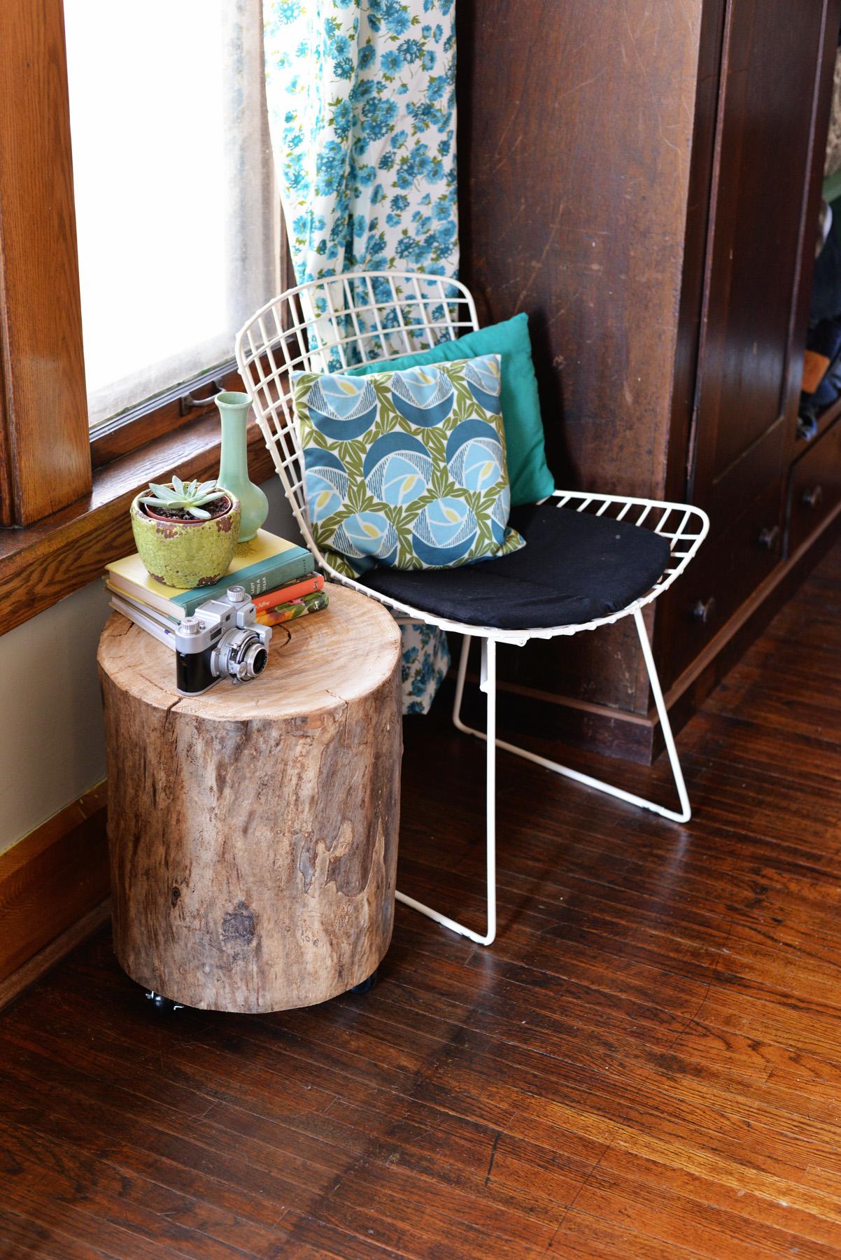 tree stump table diy side or coffee