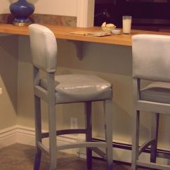 Recovering Chair Cushions Vinyl Kitchen Table Chairs 2 How To Paint Upholstery
