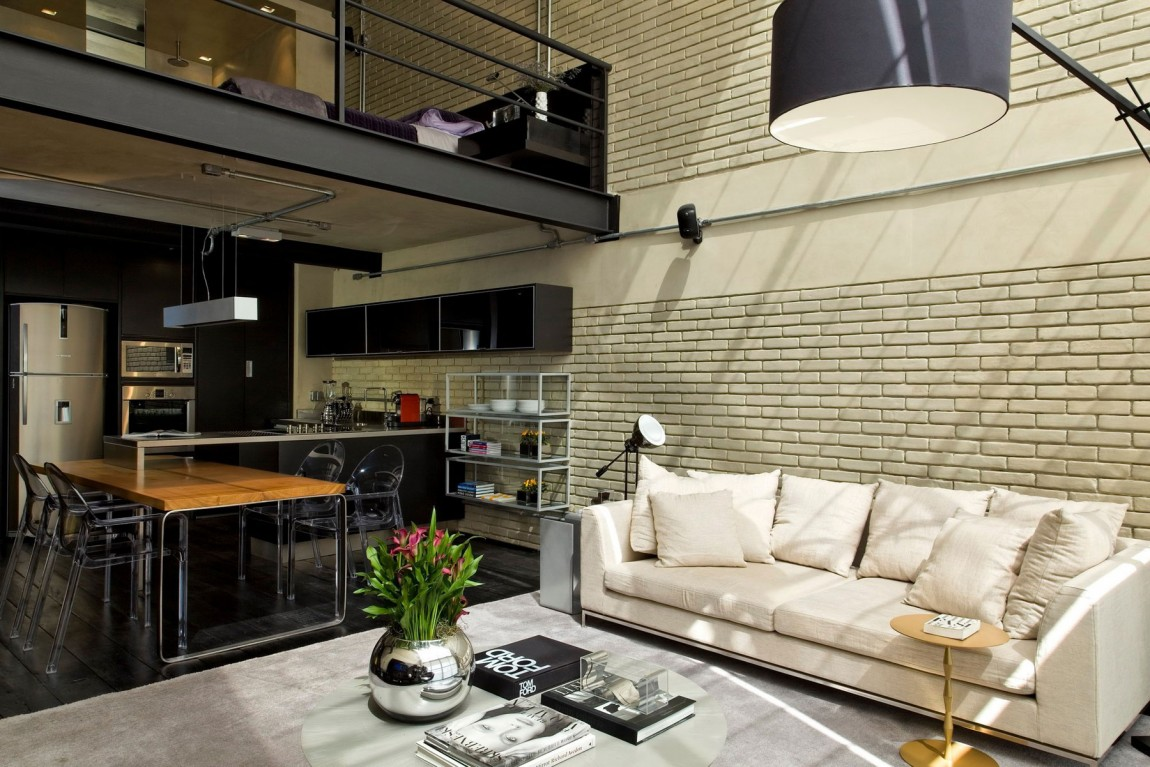 Industrial Chic Loft Features The Ideal Match Between