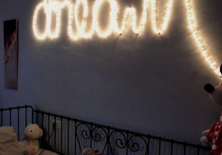 Christmas Lights On Bedroom Wall