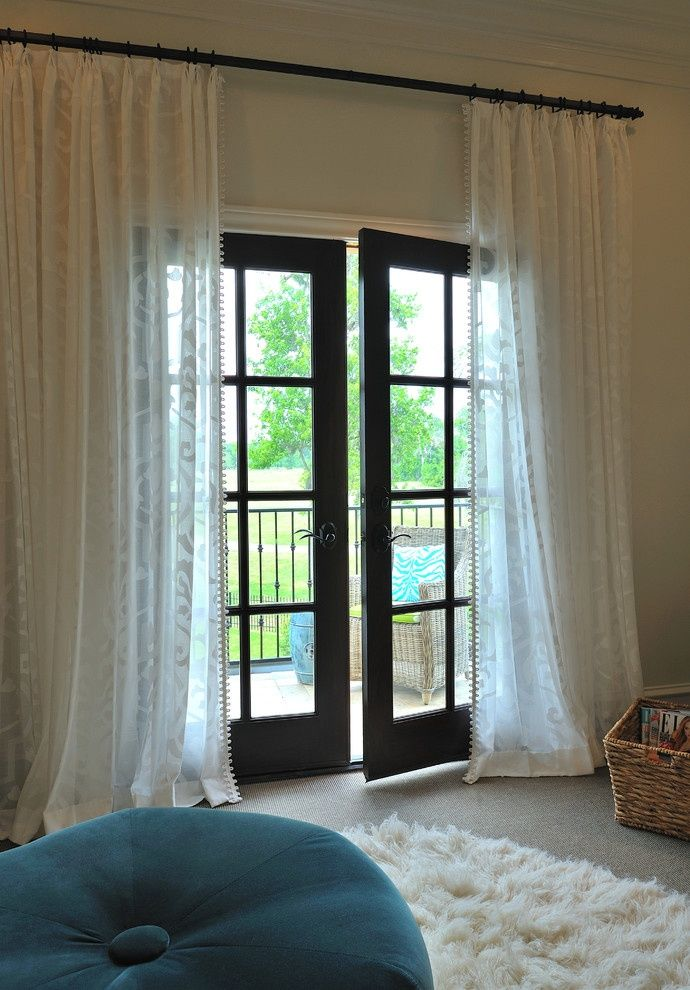 french door window curtains for your