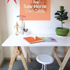 Unfinished Kitchen Table Portable Island 1-hour Saw Horse Craft