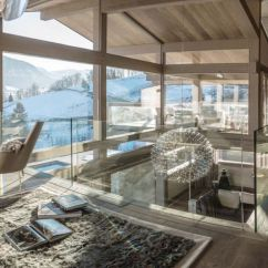 Hanging Kitchen Light Fixtures Valances For Kitchens Luxury Chalet Turns The French Alps Into Perfect Ski ...
