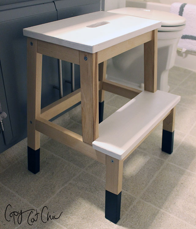 rolling stool chair bedroom on casters diy makeovers that transform the ikea bekvam step