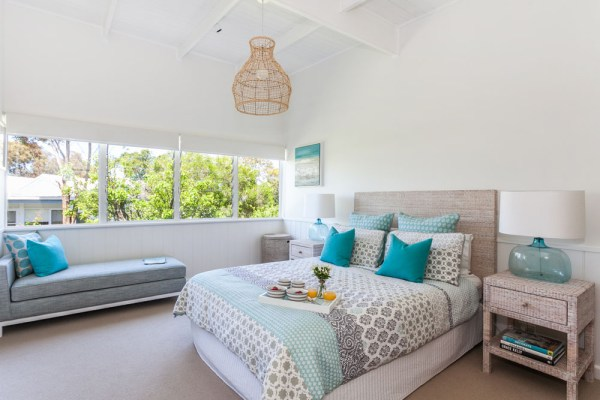 beach house bedroom Serene Beach House Taken Over By Coastal Beauty