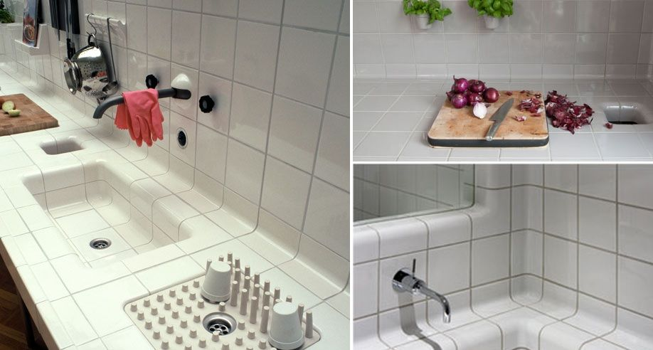 kitchen dish drying mat apron sink clever designs that reinvent the humble rack