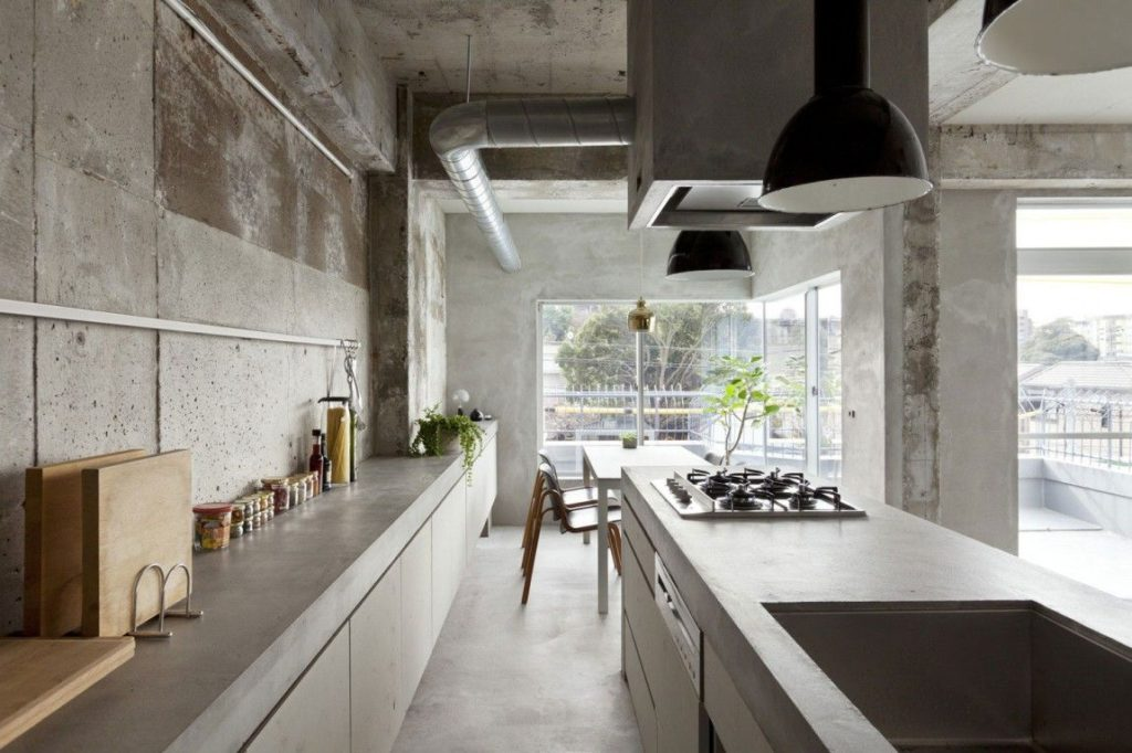 Concrete Kitchen Japanese Style Home Decorating Trends Homedit