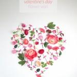 Diy Valentine S Day Flower Wall Art