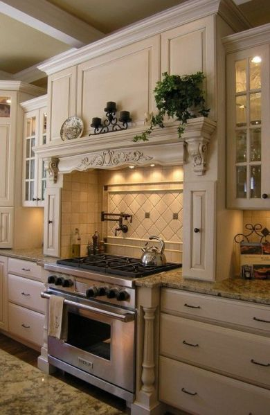 rustic french country kitchen backsplash 20 Ways to Create a French Country Kitchen