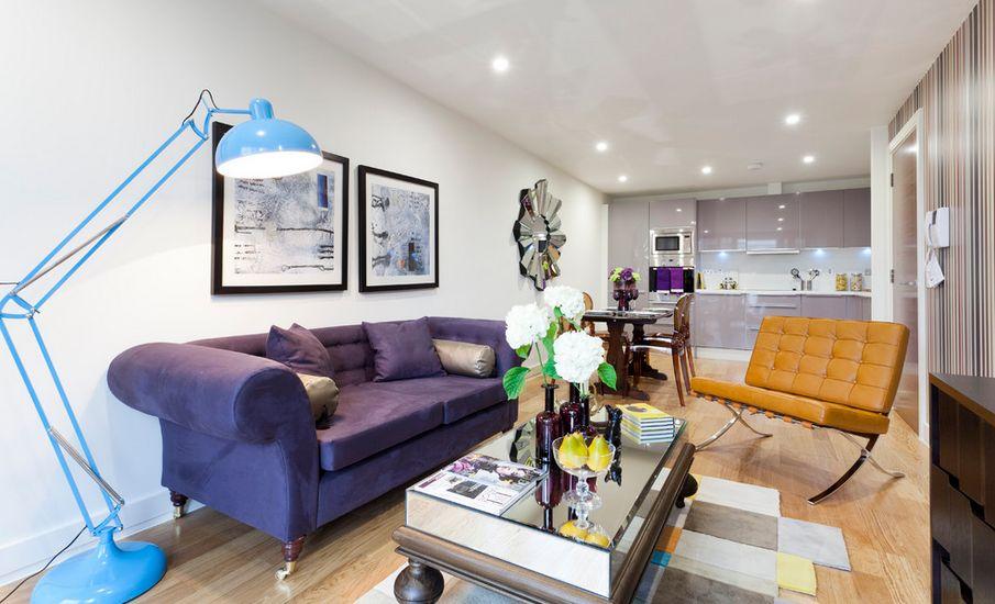 Light Purple Accent Chair