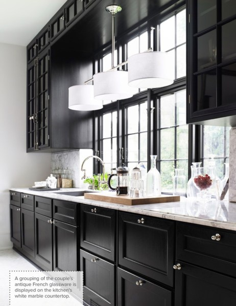 beautiful black kitchen cabinets One Color Fits Most: Black Kitchen Cabinets
