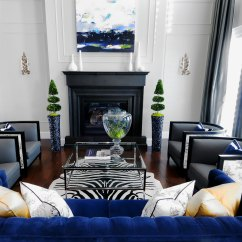 Blue Sofa Living Room Ideas Beds Grand Rapids Mi 20 Of The Best Colors To Pair With Black Or White
