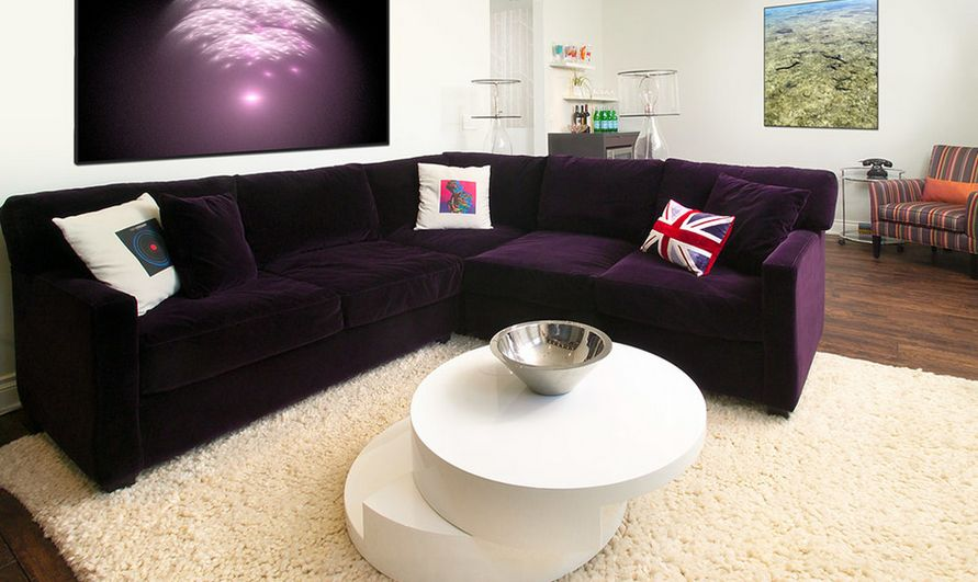 l shaped black leather sofa set upto 30000 how to match a purple your living room décor