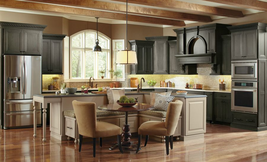 built in kitchen table cabinet refacing los angeles ways of integrating corner tables your decor