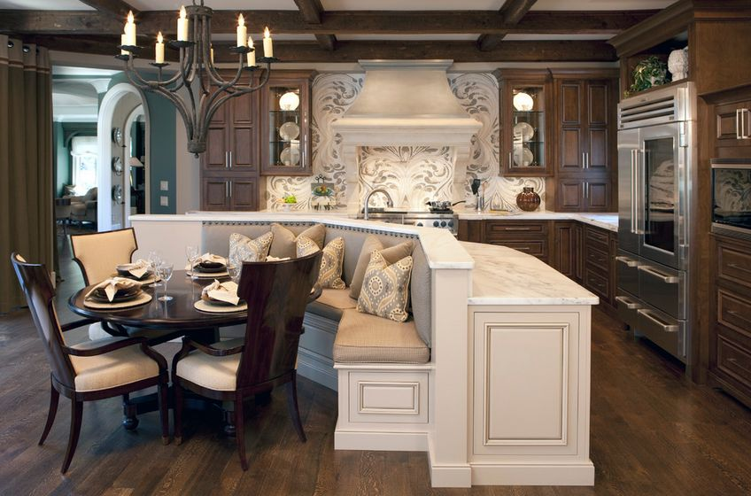 built in kitchen table island designs ways of integrating corner tables your decor
