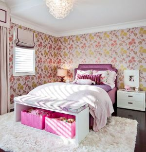 bedroom decorating homedit bed rooms wall kid decor pretty idea pink colors lovely