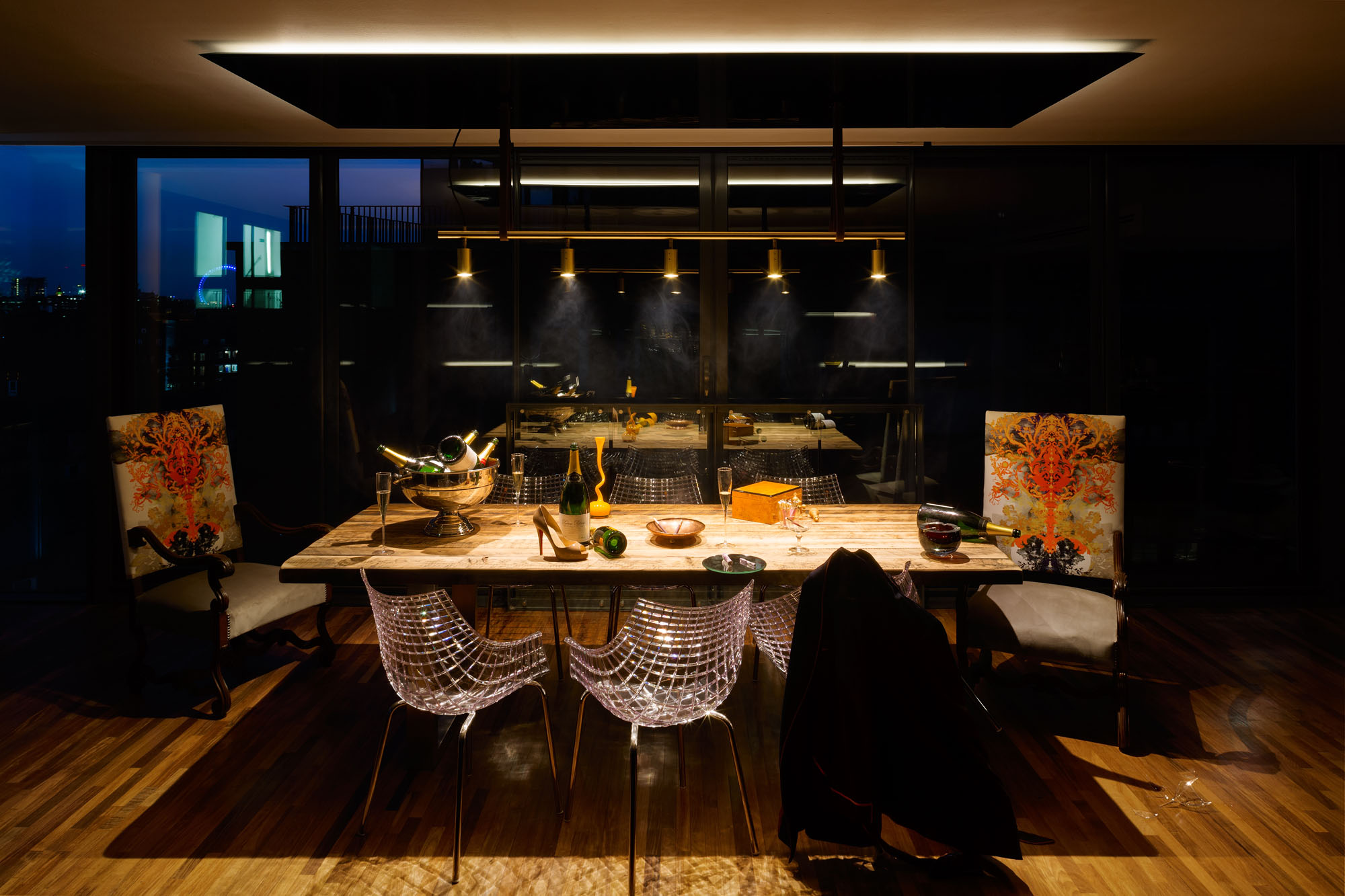 dark kitchen table and bath design center a penthouse that celebrates london with cutting-edge